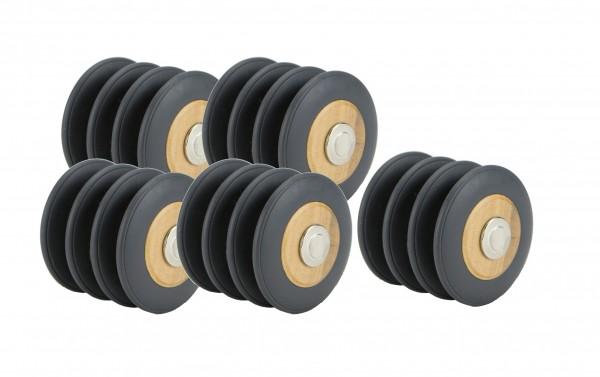 TEGU 20tlg. Magnet-Holz-Räderset