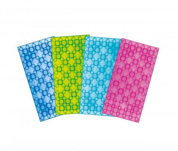 BIG BRICKS Platte 6 x 12 Noppen 4-er Set Clear Colours