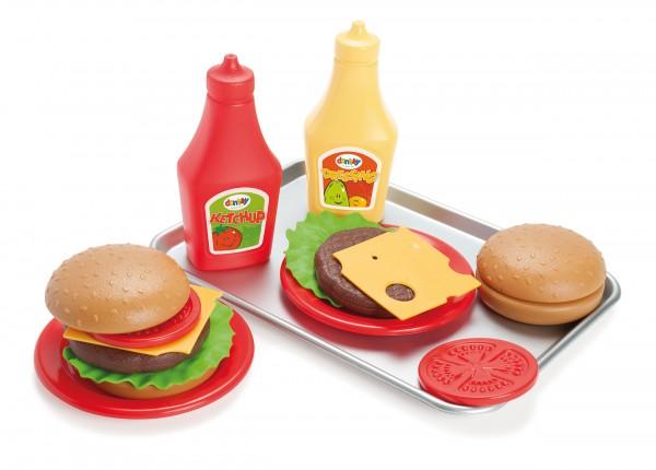 Burger mit Tablett