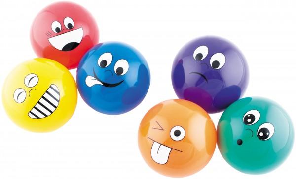 Emotionsbälle 6er Set / Emoji-Bälle
