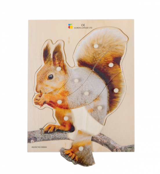 Holz-Puzzle realistisch Eichhörnchen