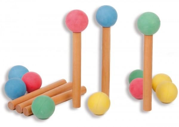 Moosgummi-Wurfbälle 12er-Set, farblich sortiert