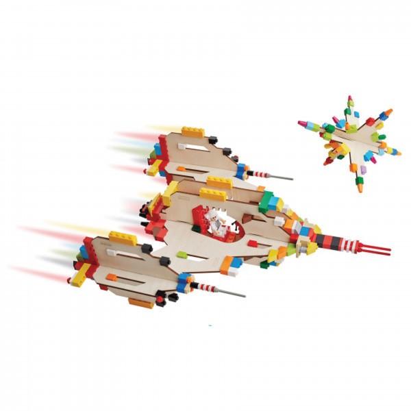 3D Puzzle für Bausteine klein, Raumschiff