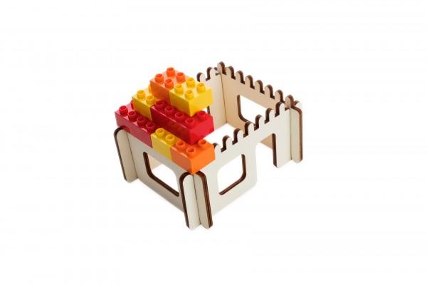 3D Puzzle für große Bausteine, Haus