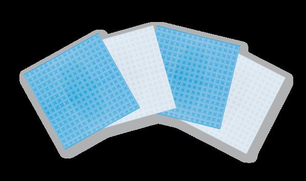 Basisplatte groß, 4er-Set transparent