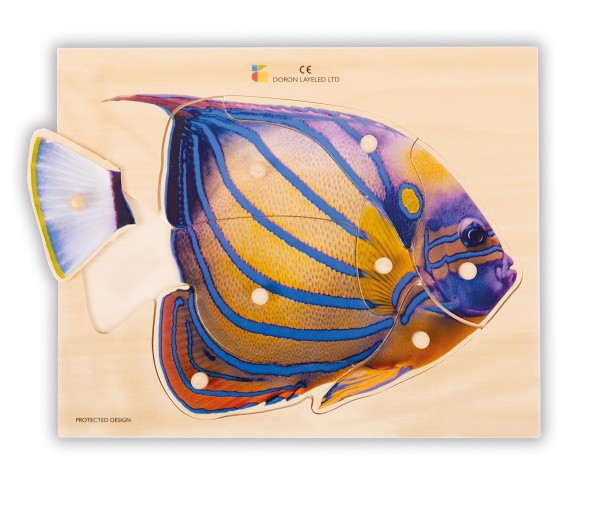 Holz-Puzzle realistisch Fisch