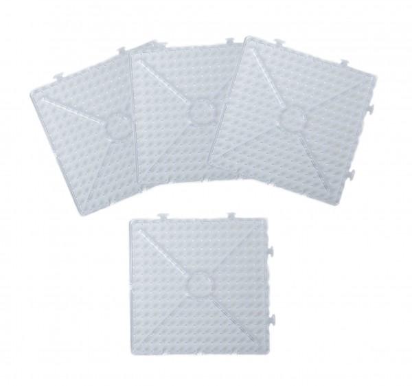 XL-Stiftplatten,4-er Set Quadrat