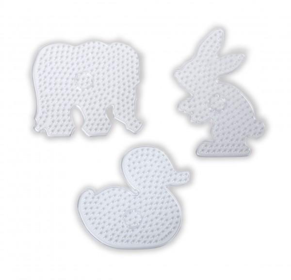 XL-Stiftplatten,Ente,Elefant,Hase
