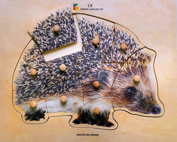 Holz-Puzzle realistisch Igel