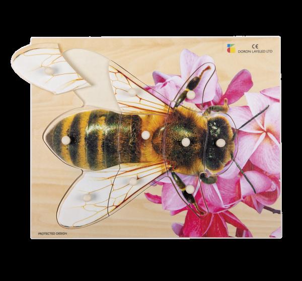 Holz-Puzzle realistisch Biene