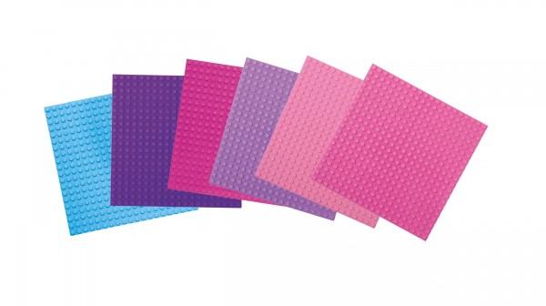 Basisplatte klein 20 x 20 Noppen 6-er Set Pretty Pink