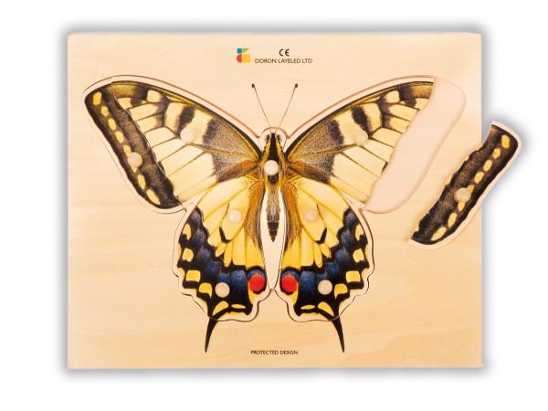 Holz-Puzzle realistisch Schmetterling