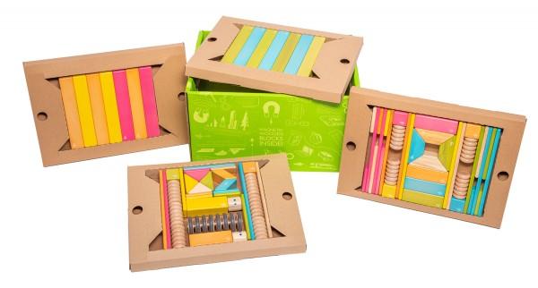 TEGU 90tlg. Magnet-Holzbausteine Set Tints