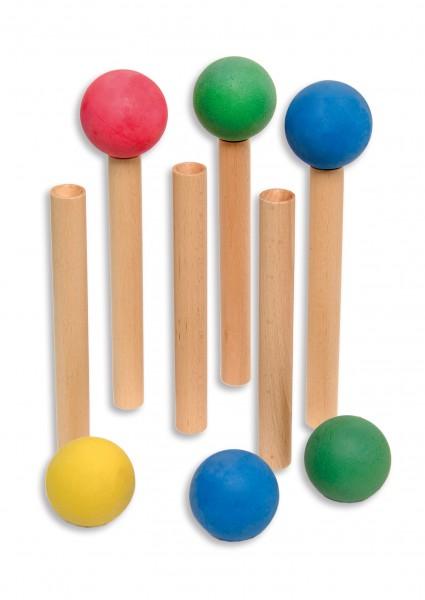 6er Set Balltragestäbe + 6er Set Moosgummibälle