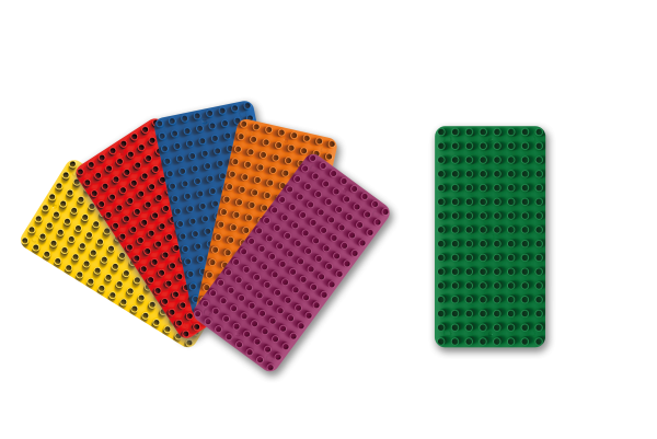 BiOBUDDi Bauplatten 6er Set