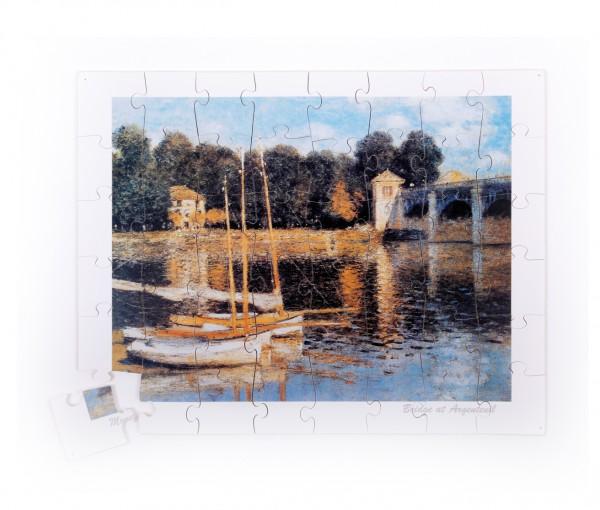 Holzpuzzle für Senioren - Monet - Brücke von Argenteuil