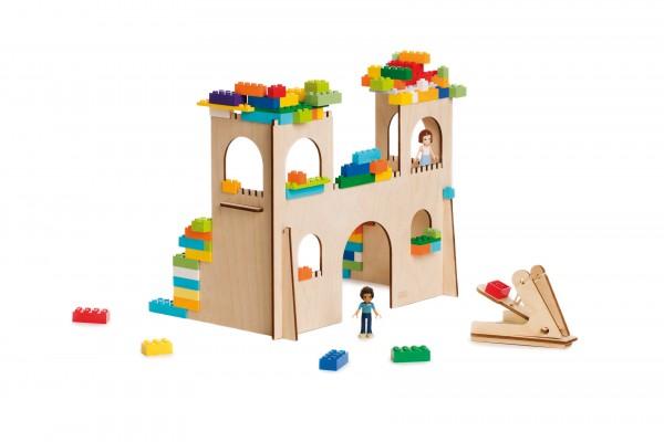 3D Puzzle für Bausteine klein, Burg