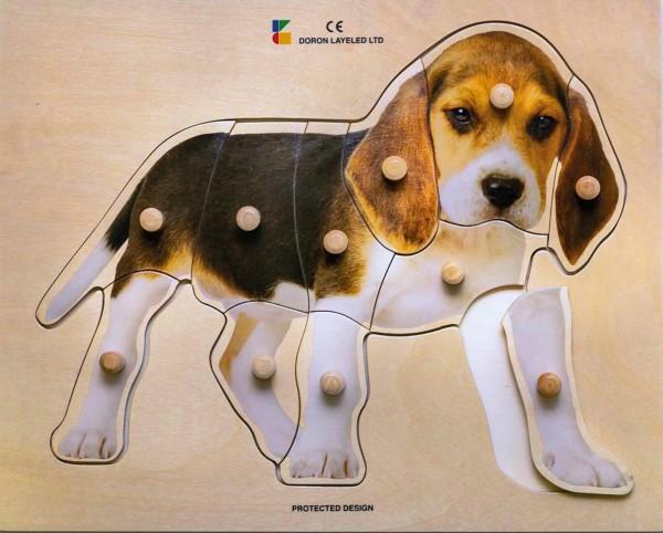 Holz-Puzzle realistisch Hund