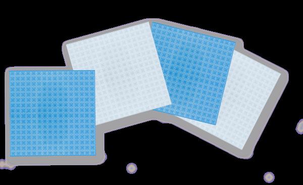 Basisplatte klein 4er Set tranparent